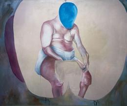 Вместо головы - воздушный шарикMartin Kippenberger- Self portrait
