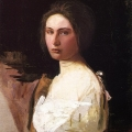 Abbott Handerson Thayer (American painter, 1849-1921) Alma Wollerman 1908