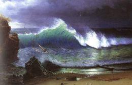 Albert Bierstadt- The Shore of the Turquoise Sea