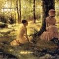 Albert Edelfelt (1854-1905, Finnish) - Sous Les Bouleaux