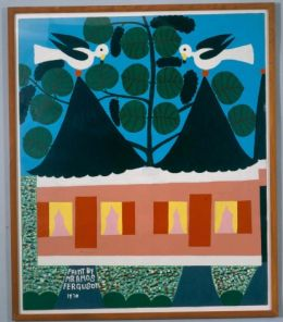 Amos Ferguson, Untitled (birds on a roof)