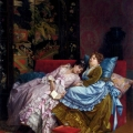 An Afternoon Idyll by Auguste Toulmouche (1829 -1890)