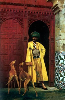 An Arab and His Dog - Jean-Leon Gerome - WikiArt.org