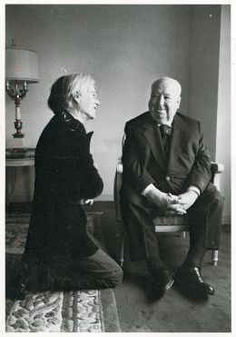 Andy Warhol meets Alfred Hitchcock, 1974 - photo by Jill Krementz