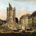 Bernardo Bellotto: Die Ruinen der Kreuzkirche in Dresden