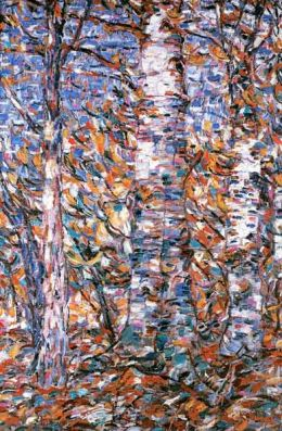 Birch woods in autumn. - Christian Rohlfs