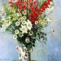 BO FRANSSON: Bouquet of Gladiolas, Lilies and Dasies Claude...