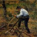 Camille Pissarro - Père Melon Sawing Wood, 1879
