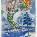 Chagall Lithograph | Siren with Pine, 1967