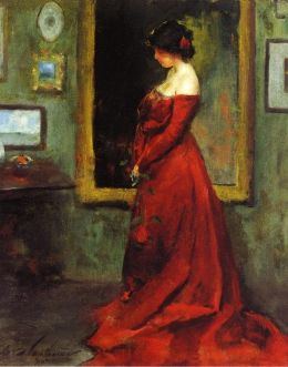 Charles Webster Hawthorne - The Red Gown (1905)
