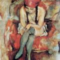 Claudine Resting - Jules Pascin - WikiArt.org - encyclopedia of visual arts