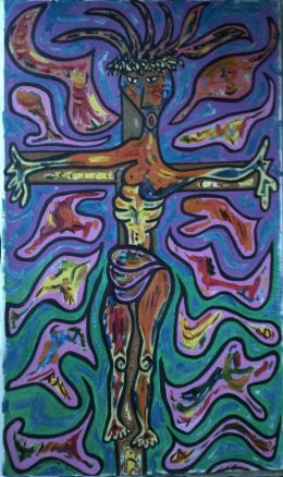 Crucifixion (Very Early Painting: 1974/1975)