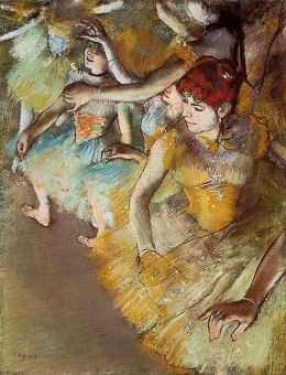 Edgar Degas: Ballet Dancers on the stage