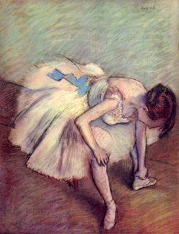 Edgar Degas - Seated Dancer