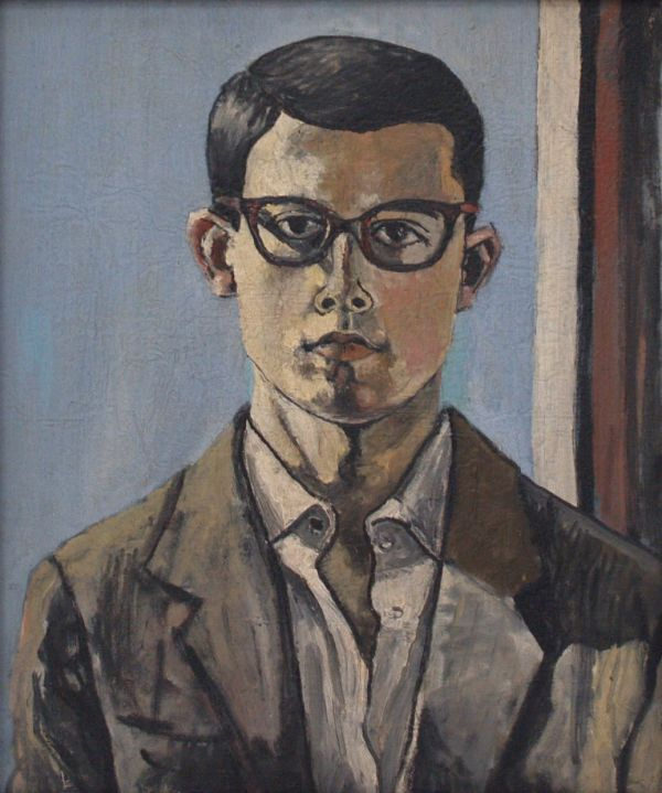Eduardo Arranz-Bravo (Spanish, b. 1941) - Self Portrait, 1958. Oil on canvas, 35 x 42 cm