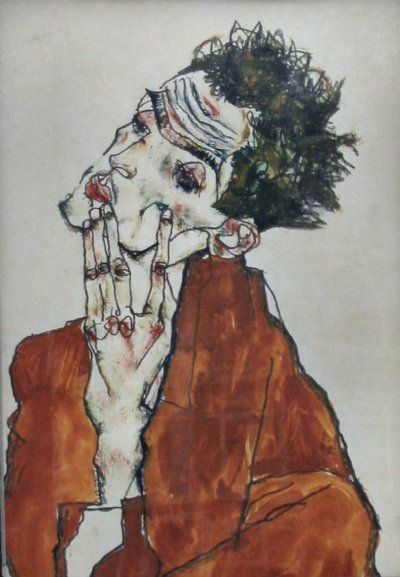 Egon Schiele, Self Portrait