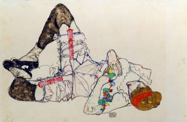 Egon Schiele: Woman Laying on her Back, 1914