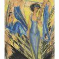 Ernst Ludwig Kirchner - Blue Artists, 1914 ...