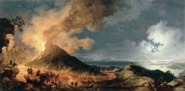 Eruption of mt vesuvius by moonlight pictify your social art