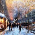 Eugene J. Paprocki - Winter Evening,, St. Germain, Paris.