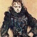 Femme au Boa Noir-Toulouse Lautrec 1892