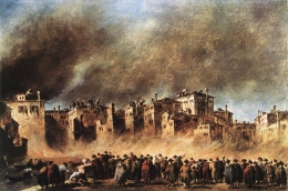 Francesco Guardi: Fire in the Oil Depot at San Marcuola