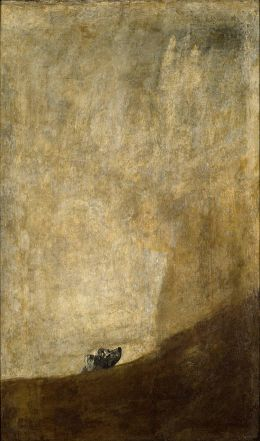 Francisco de Goya y Lucientes: Dog half-submerged