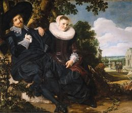Frans Hals- Wedding portrait of Isaac Abrahamsz. Massa (1586–1643) and Beatrix van der Laan (1592–1639)