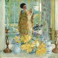 Frederick Carl Frieseke (1874-1939) | Yellow Tulips | Christie's