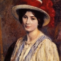 Georges Lemmen - Hat with Red Ribbon 1908