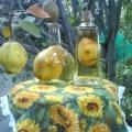 Harvest of Pears in  bottles of Rum