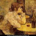 Henri de Toulouse-Lautrec - The drinker (Suzanne Valadon)