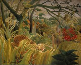 Henri Rousseau- Tiger in a Tropical Storm (Surprised!)