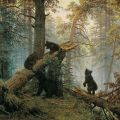 Morning in a Pine Forest::Ivan Ivanovich Shishkin (1832-1898) Russian