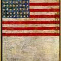 Jasper Johns: Flag Above White with collage, 1955