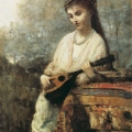 Jean-Baptiste Camille Corot - A Girl with a Mandolin