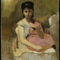 Jean-Baptiste-Camille Corot: Woman with a Pink Shawl