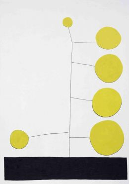 Jonas Wood - Untitled (Big Yellow Dot)