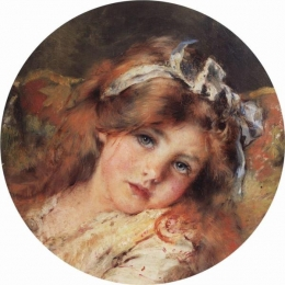 Konstantin Makovsky - Child's Head c1890