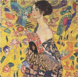 Lady with Fan - Gustav Klimt - WikiPaintings.org