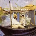 Manet - Monet in his Floating Studio