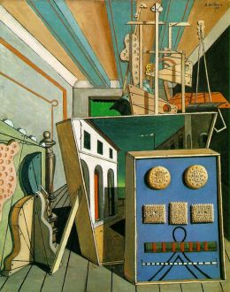 """Metaphysical Interior with Biscuits"" by Giorgio de Chirico, 1916"