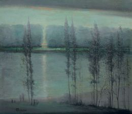 Midsummer Night - Leon Dabo - WikiArt.org - encyclopedia of visual arts
