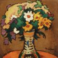 Nicolae Tonitza - Ulcica cu flori de camp
