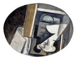 Pablo Picasso - A Glass on a Table, 1913 , Corcoran