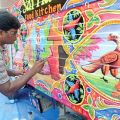 Pakistani artist paints truck as Eid gift to India – The Express ...
