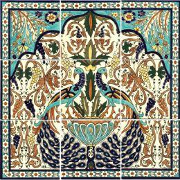 Peacock Ceramic Tile Mural-Balian