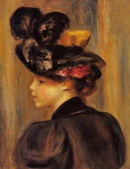 Pierre Auguste Renoir (French painter, 1841-1919) Black Hat