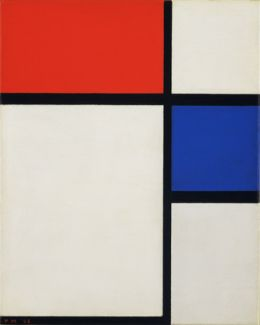 Piet Mondrian: Composition No. II, with Red and Blue