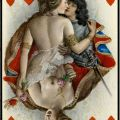 Queen of Hearts  An erotic playing card from Le Florentin designed by Paul-Emile Becat.